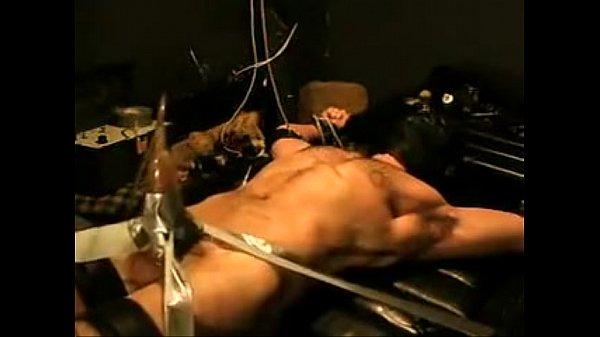 Bound Tickled Vac-Pumped Jock Wearing Head Gear (BDSM)