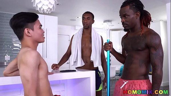Chinese Twink Can Handle Two BBCs!