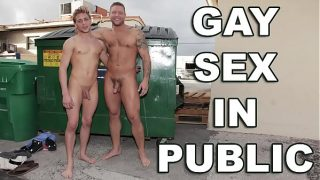 GAYWIRE – Colby Jansen and Evan Eros Have Gay Sex Out In Public!