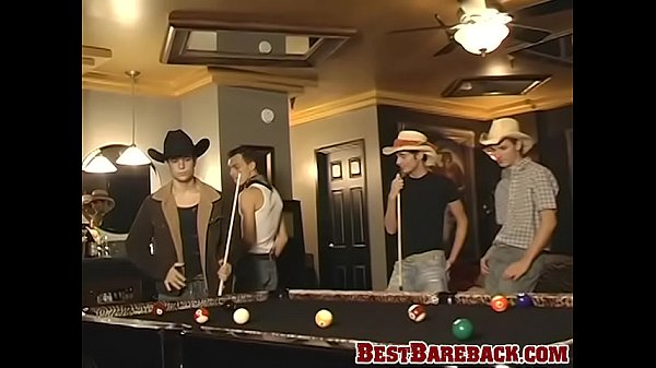 Hot cowboys penetrating their holes in bareback style