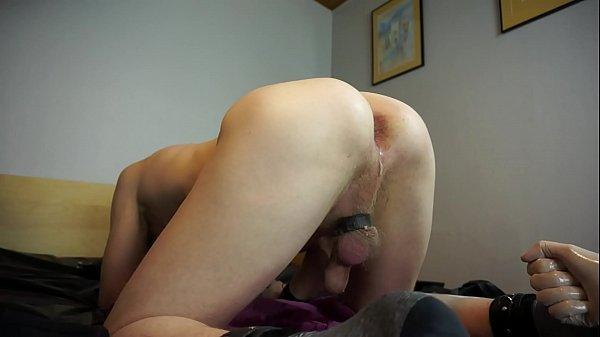 My freak slave enjoys fisting the slut's sloppy ass