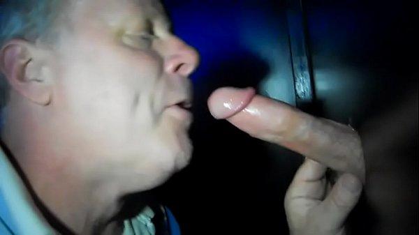 Sucking at glory hole