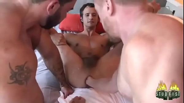 Hot guys fist together